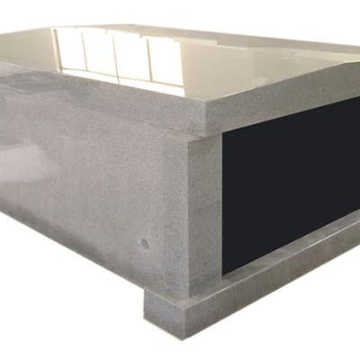 double gray mausoleum flat