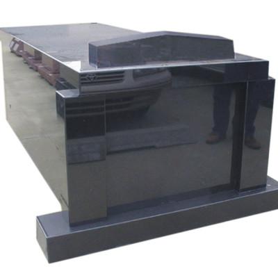 single black mausoleum