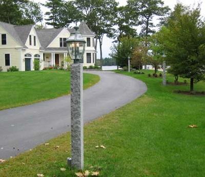 Gray lamp post