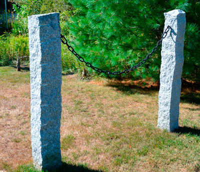 Gray old yankee fence posts