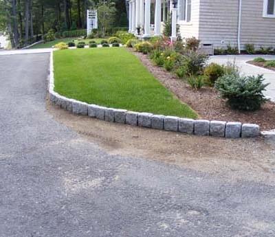 Jumbo cobblestones for edging