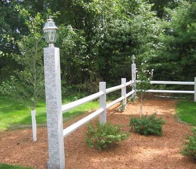 Lamp & fence posts