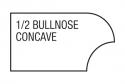half bullnose concave