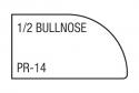half bullnose